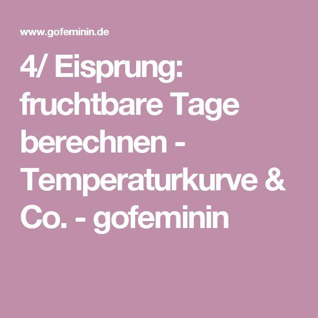 4/ Eisprung: fruchtbare Tage berechnen - Temperaturkurve & Co. - gofeminin