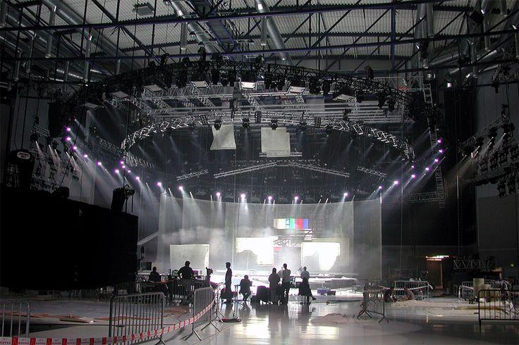Installation On Site. Eurovision Song Contest 2002, Tallinn, Estonia.