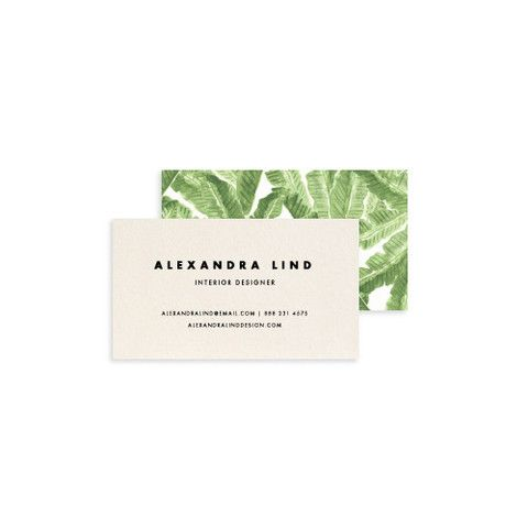 Palm Leaf print Business Cards – The Atelier