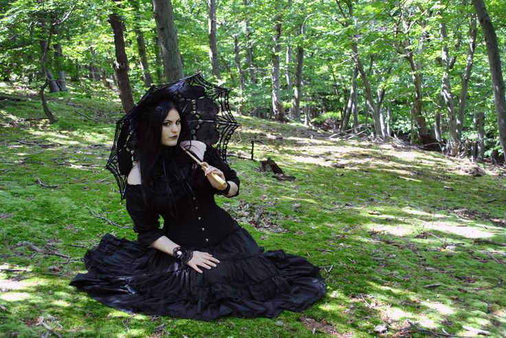 In the forest ~ #goth  #gothic  #gothicgirl, #gothicgirlintheforest,  #witchy