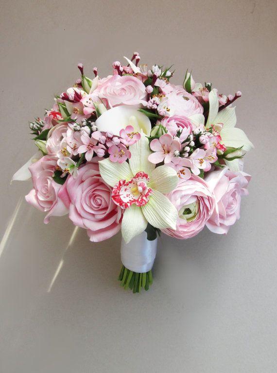 Cherry blossom bouquet sakura bouquet bridal от FlowersofSharon
