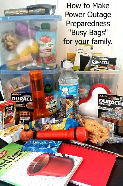 How to make individual busy bags for your family for a power outage during this summer's storm season