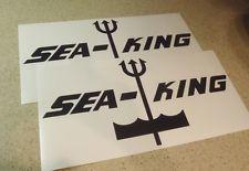 "boat decals  sea king | Sea King Vintage Boat Decal Die-Cut 12"" Black 2-PAK FREE SHIP + Free ..."
