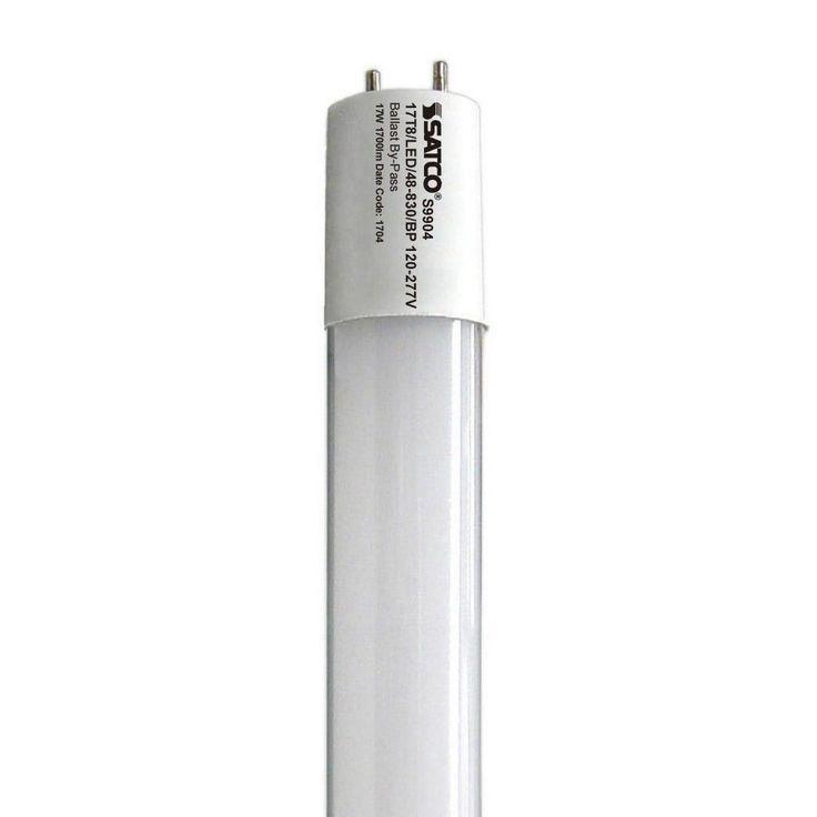 Satco S9904*10 17W 4ft. T8 LED Tube 3000K Warm White Medium BiPin base 2100Lm
