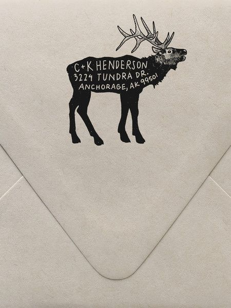 Elk Return Address Custom Stamp  | Sycamore Street Press