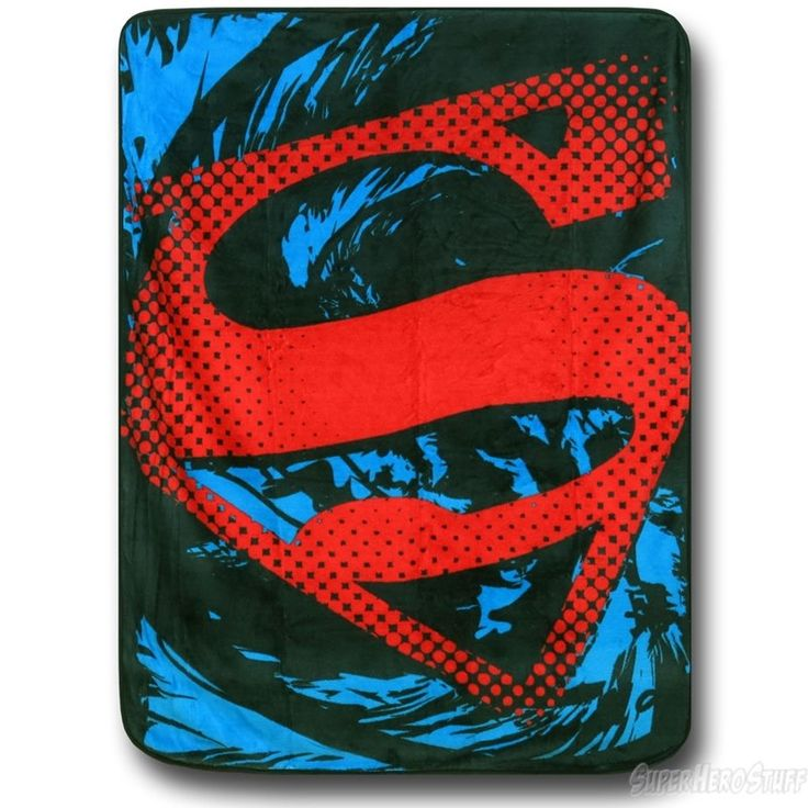 Superman Red Symbol Throw Blanket