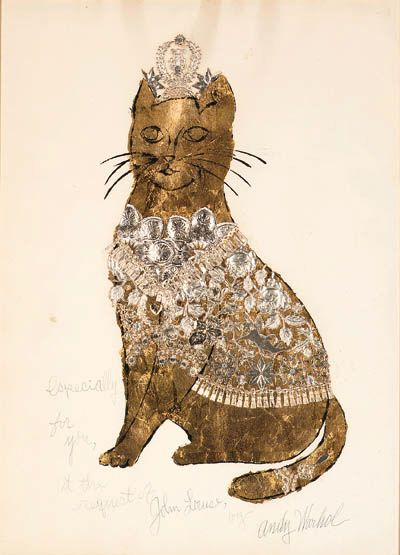 — Andy Warhol Golden Cat, 1956