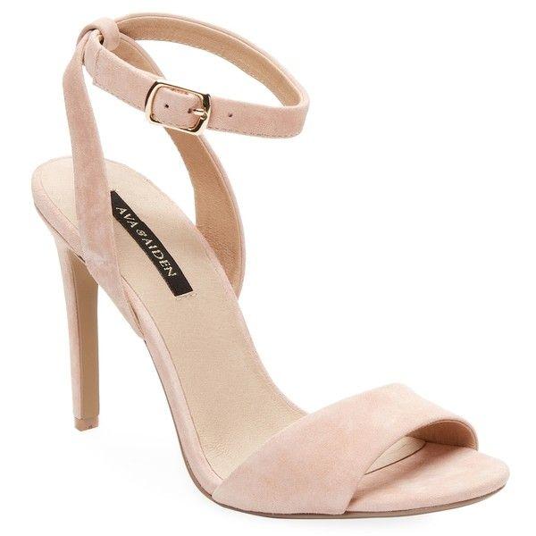 light pink open toe heels