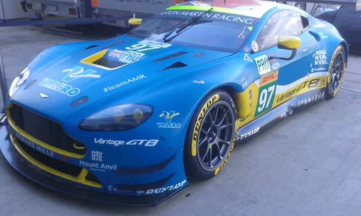 WEC Silverstone -  LM GTE Pro #97 Aston Martin Vantage GT8 - retired before race end. What a great colour scheme.