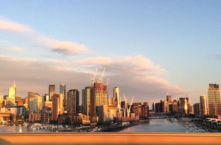 Bolte Bridge, city, Melbourne