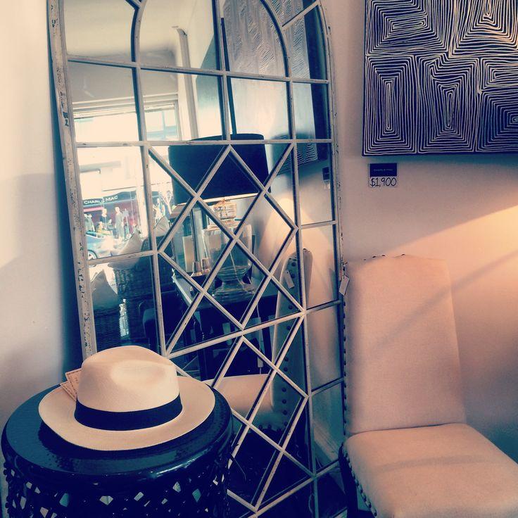 Mirror and panama hat... #mirror #panama #hat #black #white #travel #wonderlust #home #decor #house #interior #design #designer #love #style #trend #look #heaven #blog #blogger www.charliemac.com.au