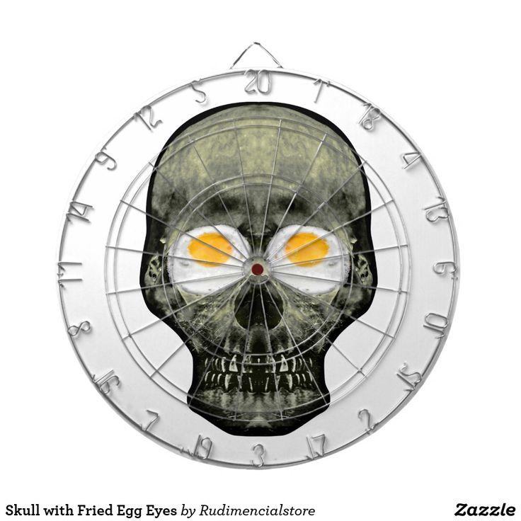 Skull with Fried Egg Eyes Zazzle Dartboard