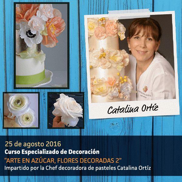 Un pastel sin decorar no es un pastel. Aprende a hacerlo como nadie con Catalina Ortiz.   #CatalinaOrtiz #mexipan2016 #mexipan #mexico #mexicocity #cdmx #cake #birthdaycake #repostería #postre #expo #expo2016 #wtc #cursov#chef #masterchef #cheftable
