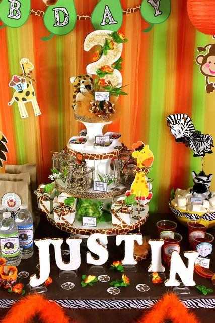 "Photo 5 of 35: Baby Safari / Birthday ""SAFARI ZOO: Justin's 3rd Birthday!"" | Catch My Party"