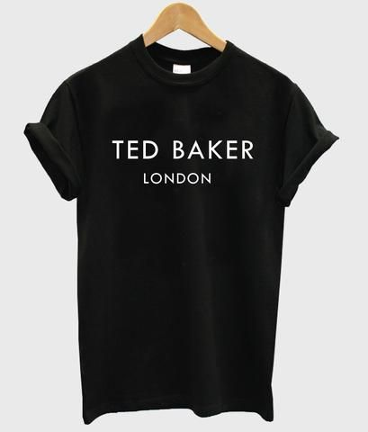 TED BAKER LONDON Letters Print Women tshirt Casual Cotton Hipster Funny t shirts For Lady Top Tee Drop Ship B-340