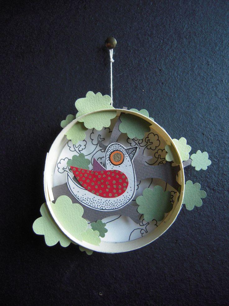 oiseau arbre / boîte à camenbert