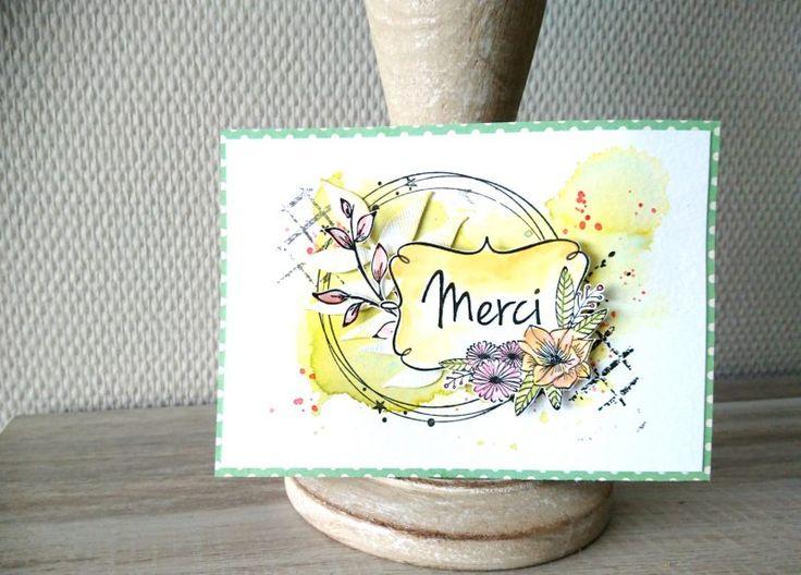 CARTE «MERCI» par Michelle | Le Blog Scraposphère