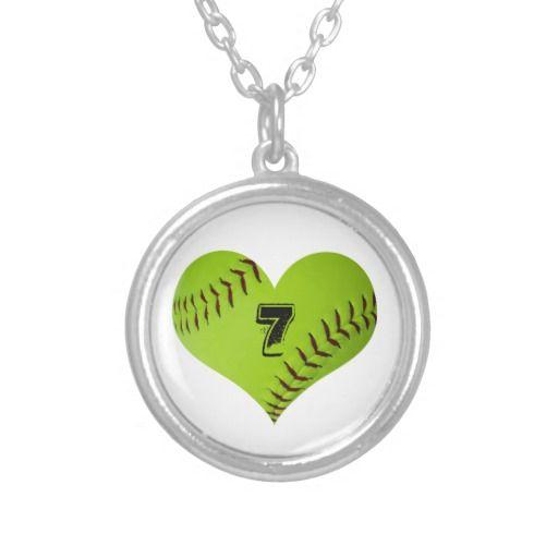 Softball Necklace #softball #necklace