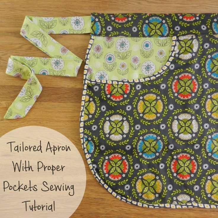 Another fabulous free sewing pattern - half apron sewing tutorial with proper pockets - made using #rileyblake dutchtreat fabrics.