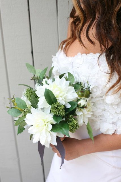 premade wedding bouquets diy white wedding bouquet add stems to a pre made wedding 6755