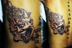 Tattoo japanese is a great tattoo idea for your new tattoo. A mask tattoo suggested both for men tattoo and women tattoo.