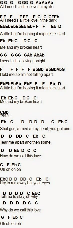 Me and my broken heart - flute part 1