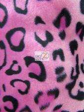VELBOA FABRIC-PINK CHEETAH PRINT FAUX FUR-ONLY $6.49/YARD-SOLD BTY