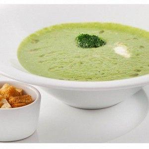 Куриный крем-суп со шпинатом и сливками