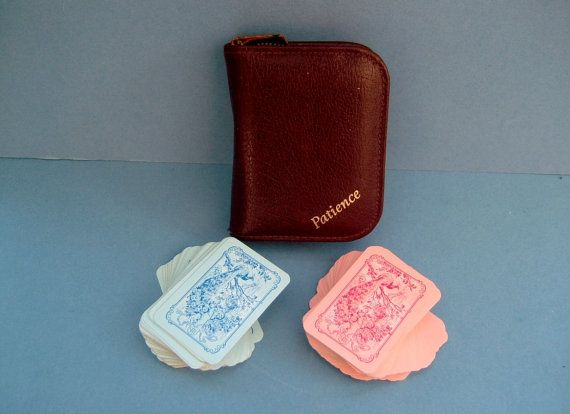 1930s Card Game Patience Set in Original by QueensParkVintage