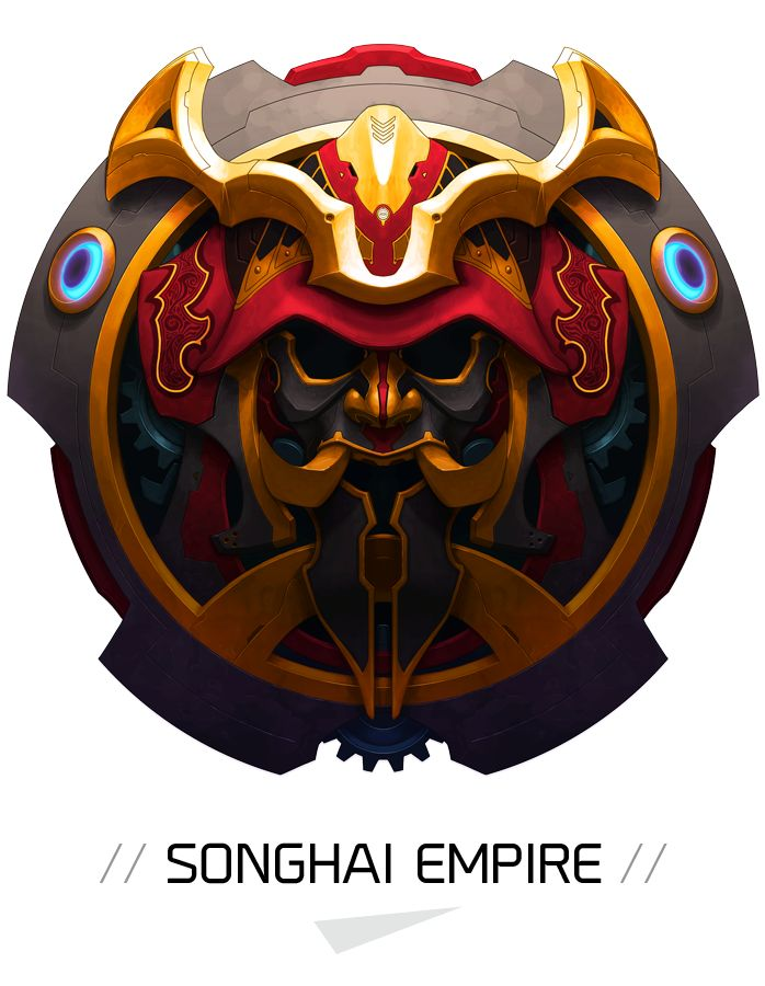 """Duelyst"" game. Songhai Empire badge"