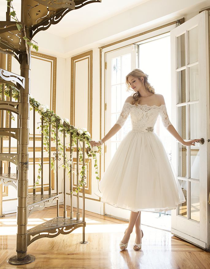 We Are Swooning Over This Tea Length Bridal Gown Perfect