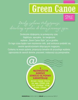 Green Canoe Style JESIEŃ 2012/3