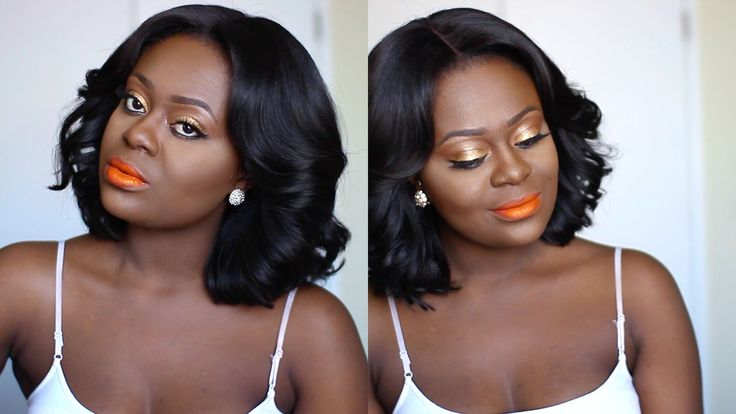 Bright Orange Lips/Lipstick On Dark Skin| Makeup Tutorial