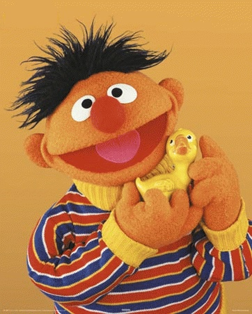 Ernie and his other best friend ~ Rubber Duckie!