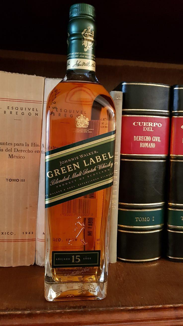 """Johnnie Walker, blended malt whisky, """"Green label"""" 15 y/o."""