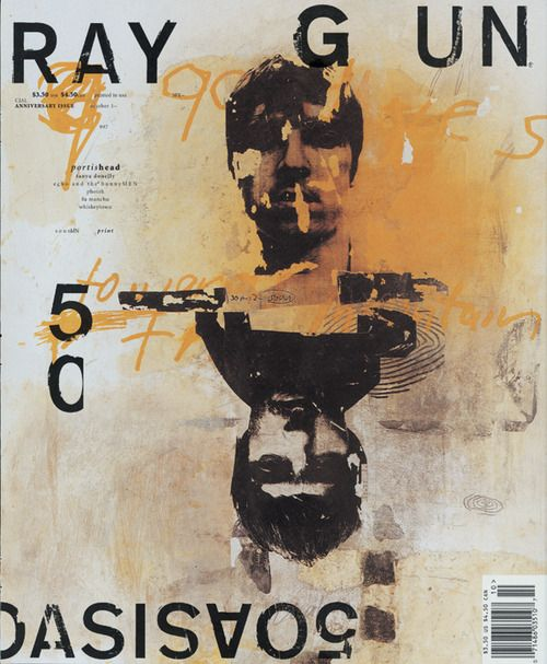 """From the """"King of Non-Communication"""", David Carson's work in Ray Gun Magazine took all of the rules of conventional typography and threw them out the window.  His unconventional style was inspired by his affiliation with the 1990's Southern California counter culture.  Brash, fun and irreverent, his signature style spoke to his generation and has been dubbed """"Extreme Post Modernism"""" with good reason!"""
