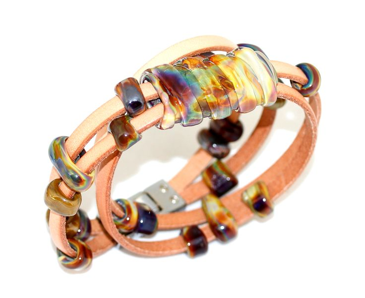 Double leather bracelet