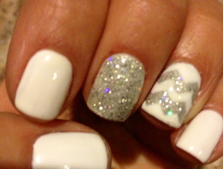 Nails by Trish! #chevron #shellac #gelish