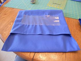 Directions for sewing seat sacks