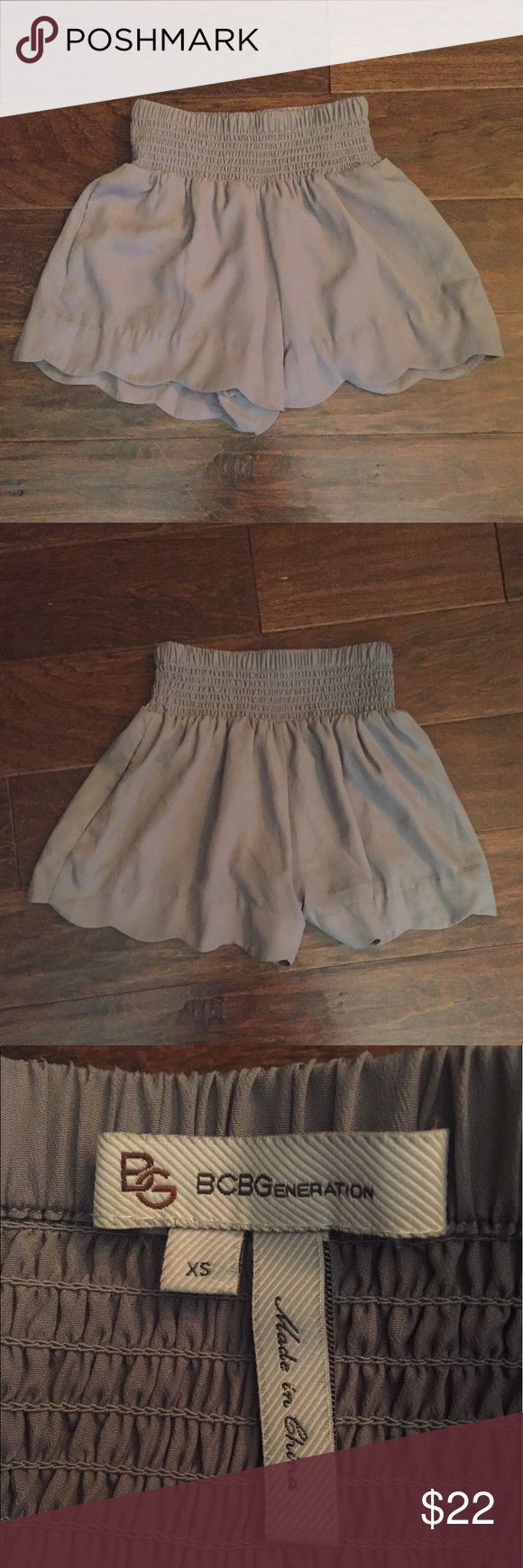 BCBGeneration shorts Cute shorts with scalloped edge. Fitted waist. Pockets BCBGeneration Shorts