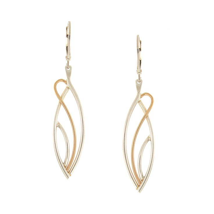 Flame Earrings- Sterling silver & 14KY   #lindaconstantine #shoplocal