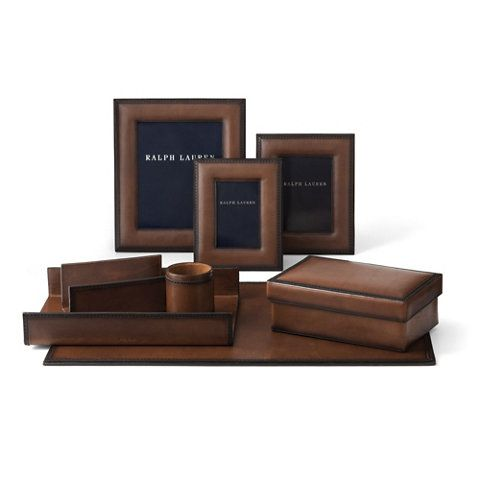 Brogue Paper Tray In Saddle Desk Accessories Tabletop Accents Products Ralph Lauren Home Ralphlaurenhome 2018 Pinterest