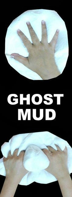 GHOST MUD: A must-try activity for kids! (It's ooey, and gooey, and ghostly cold!) #playrecipes #kidsactivities #Halloween