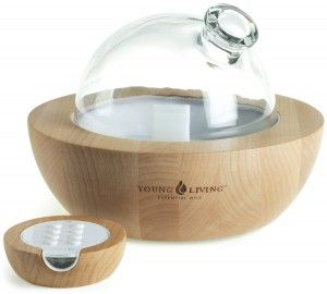 Aria Ultrasonic Diffuser by Young Living -cost $225 but is a better price than most of the glass bowl diffusers out there