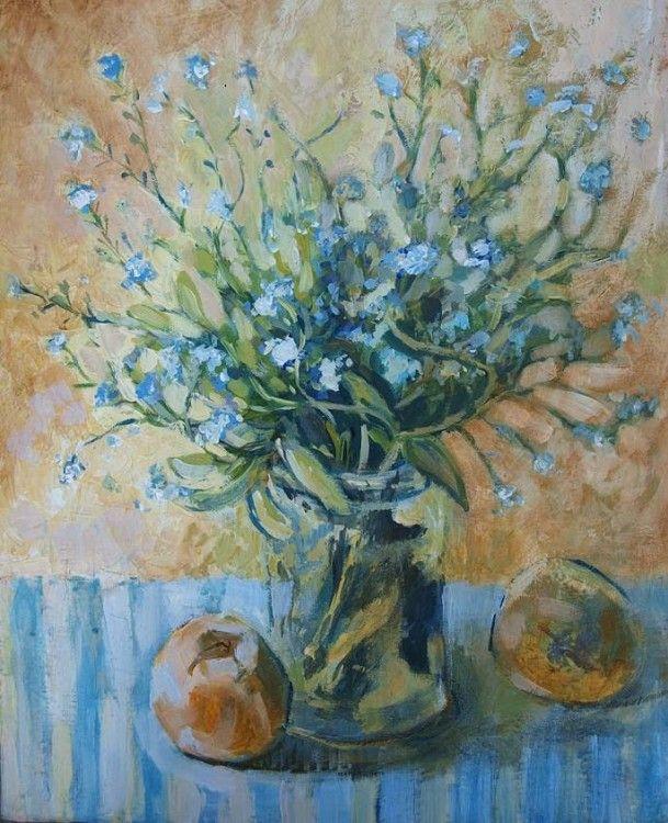 Niezapominajki (Painting) przez ANNA  BARDZKA