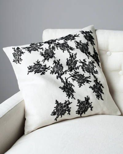 A lace-adorned pillow from the Jason Wu/Canvas line.