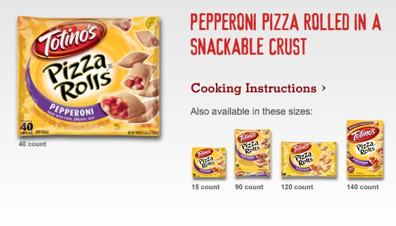 8 flavors of Totino's Pizza Rolls means there's one for everyone! Browse varieties: http://www.totinos.com/products.aspx?id=F8E0AA63-A497-480F-A341-A8F917120C46