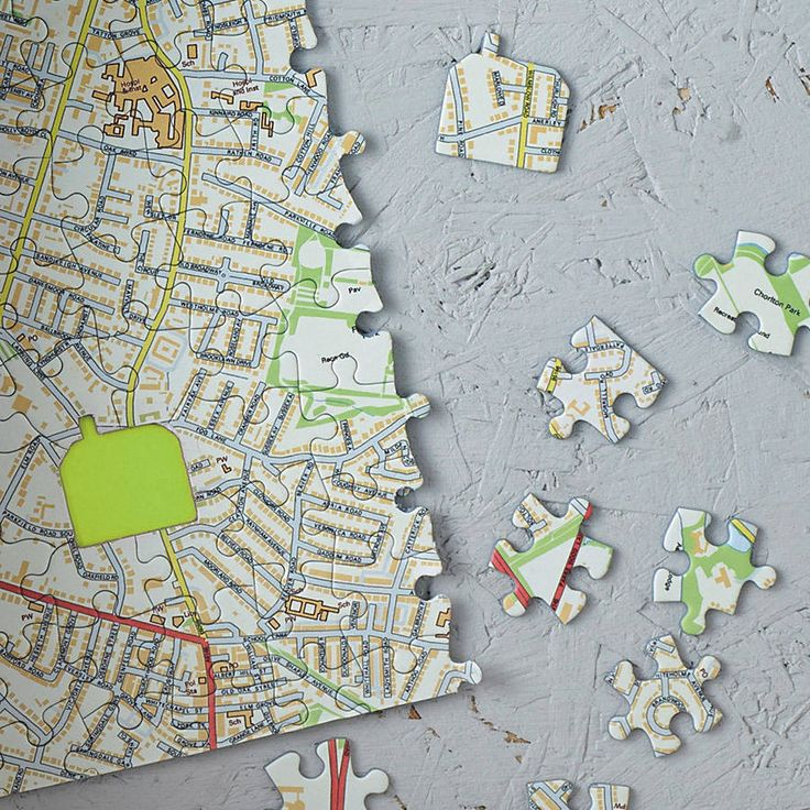 Personalised Our House Map Jigsaw from notonthehighstreet.com