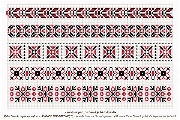 Semne Cusute: romanian traditional motifs - MOLDOVA - Iasi - sat: Valea Seaca