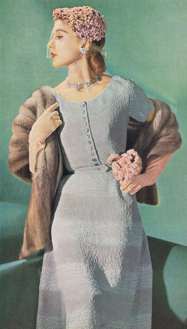 Minerva knit dress pattern 1951